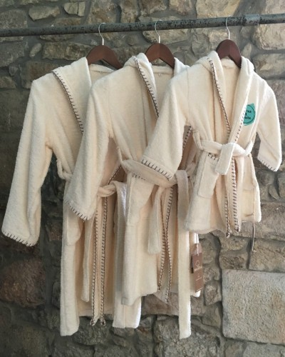 Albornoz de algodón infantil